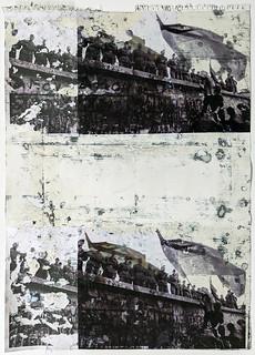 Zavier Ellis 'Freiheit XXV', 2021 Emulsion, acetate, collage on paper 59.4x42cm