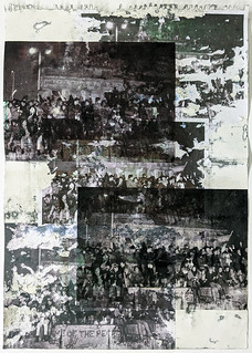 Zavier Ellis 'Freiheit XXIV', 2021 Emulsion, acetate, collage on paper 59.4x42cm