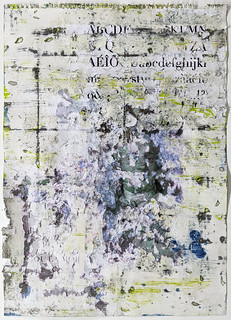 Zavier Ellis 'Liberté V', 2021 Oil, acrylic, emulsion, collage on paper 59.4x42cm