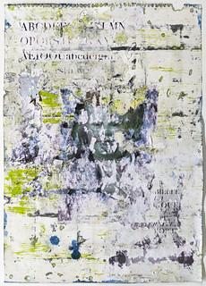 Zavier Ellis 'Liberté II', 2021 Oil, acrylic, emulsion, collage on paper 59.4x42cm