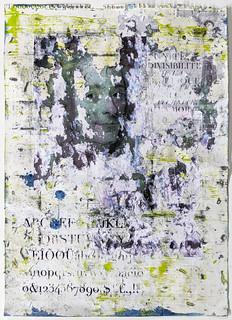 Zavier Ellis 'Liberté I', 2021 Oil, acrylic, emulsion, collage on paper 59.4x42cm