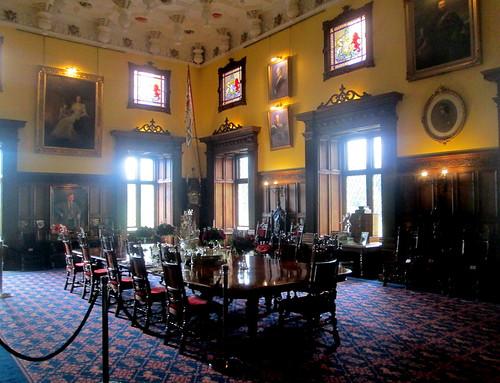 Dining room, Glamis Castle, Angus, Scotland