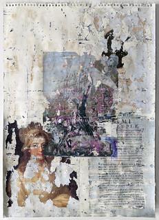 Zavier Ellis 'Liberté XVI', 2021 Emulsion, collage, transfer on paper 59.4x42cm