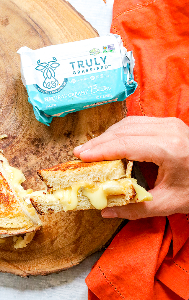 Apple Cider Caramelized Onion and Brie Grilled Cheese