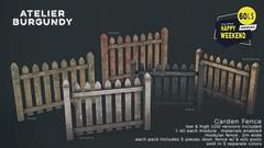 Atelier Burgundy . Garden Fence HW
