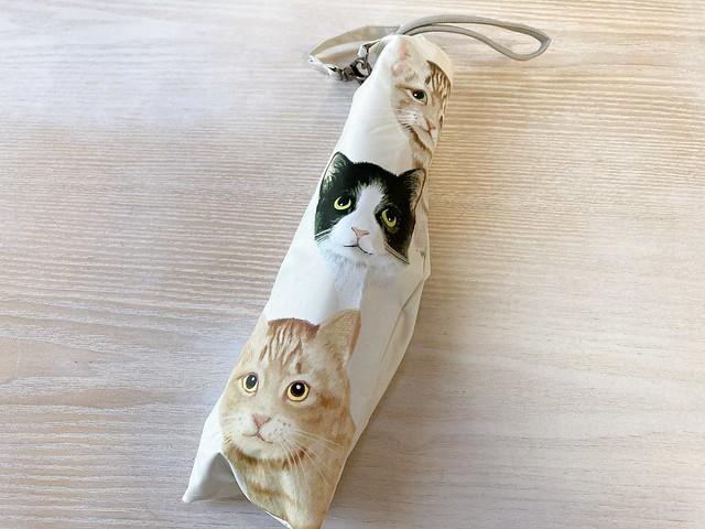 QVC ルナジュベール 猫柄折りたたみ傘