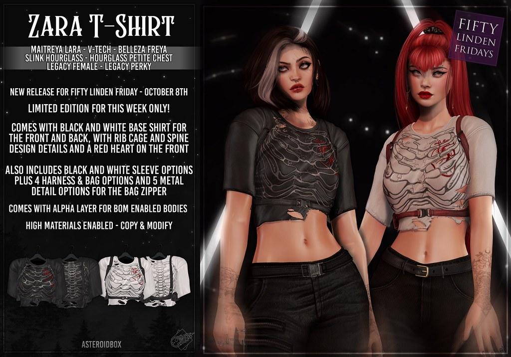 AsteroidBox. Zara T-Shirt @ Fifty Linden Fridays