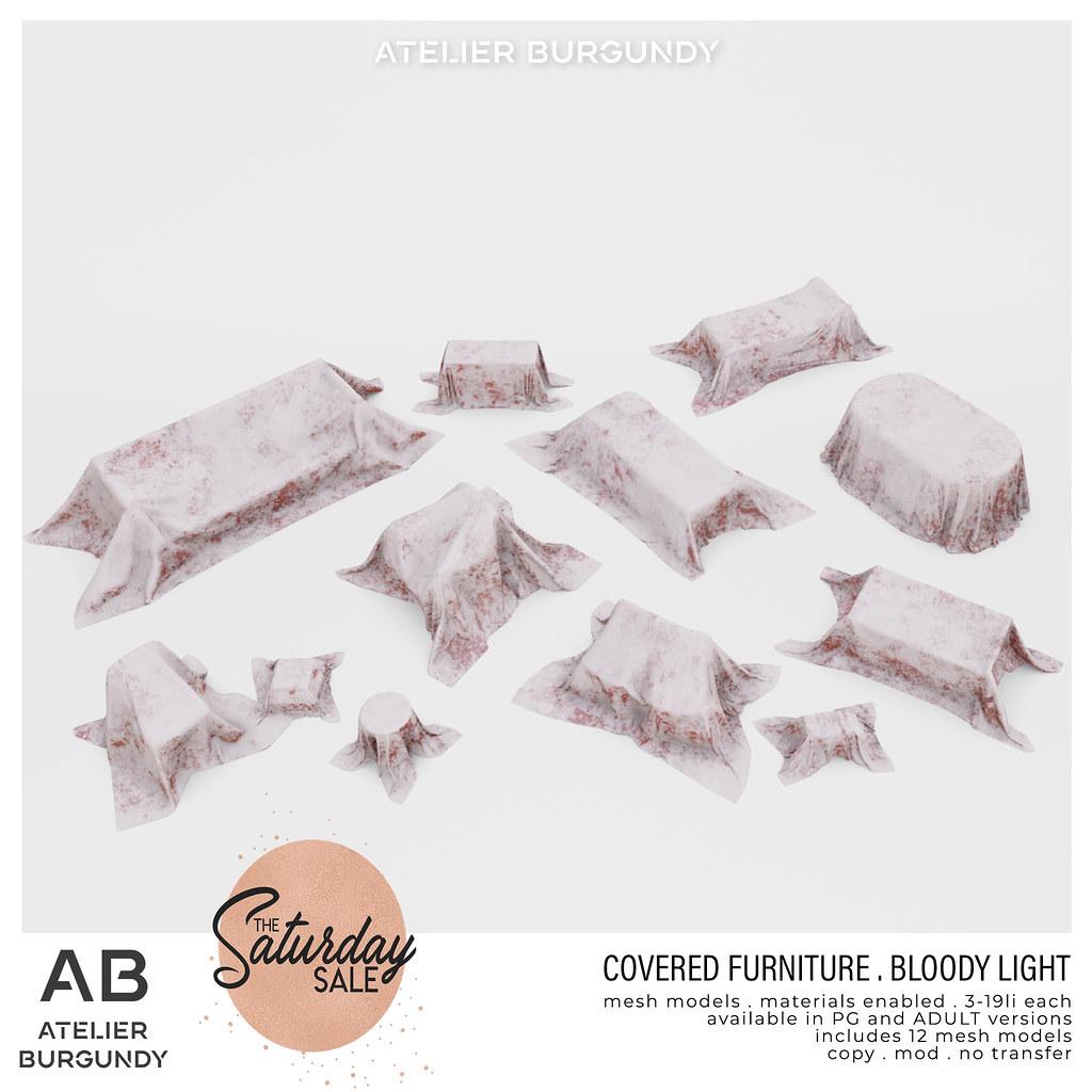 Atelier Burgundy . Bloody Covered Furniture light TSS