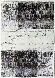 Zavier Ellis 'Freiheit XXIII', 2021 Emulsion, acetate, collage on paper 59.4x42cm