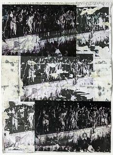 Zavier Ellis 'Freiheit XXII', 2021 Emulsion, acetate, collage on paper 59.4x42cm
