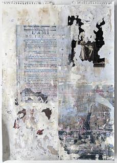 Zavier Ellis 'Liberté XVIII', 2021 Emulsion, collage, transfer on paper 59.4x42cm