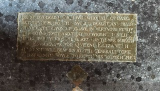 'behold a dead man's howse who full of dayes retirde here from the world', 1617