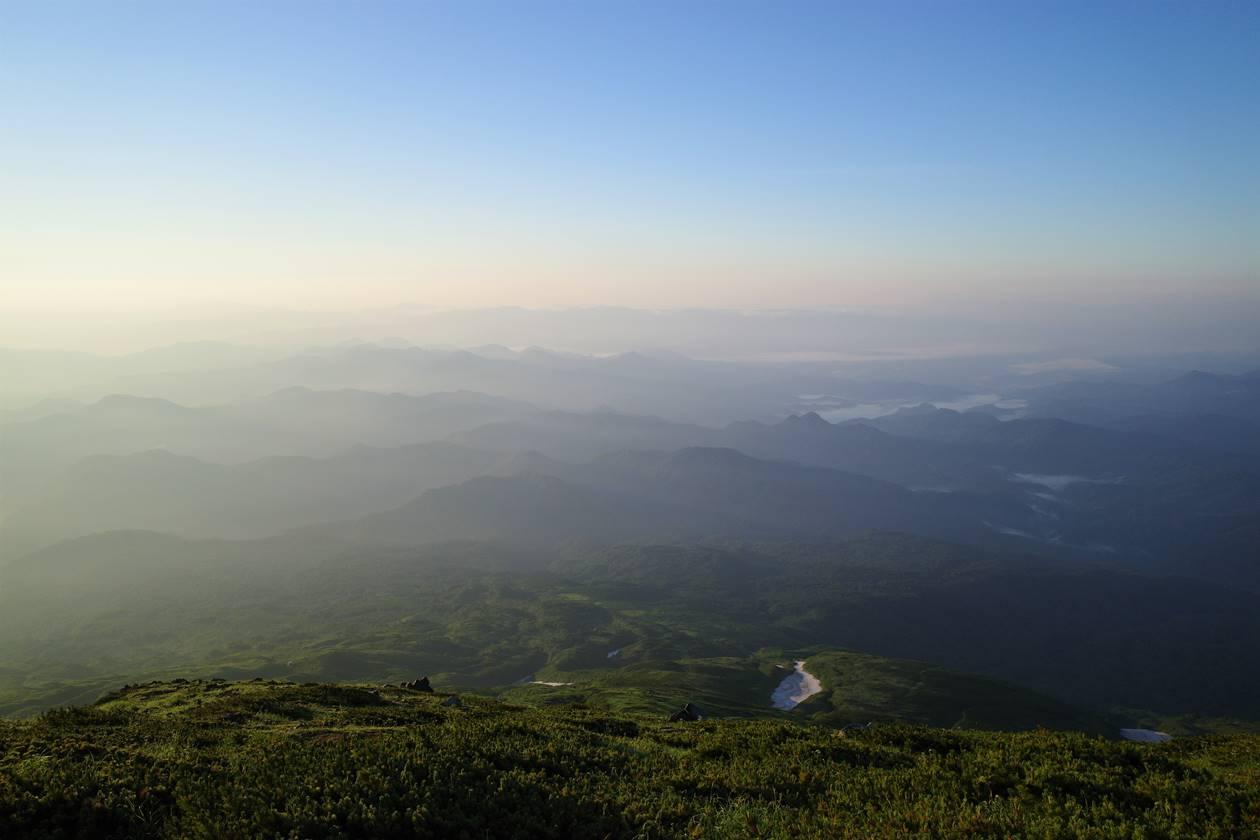鳥海山からの眺め
