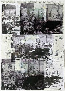 Zavier Ellis 'Freiheit XXVI', 2021 Emulsion, acetate, collage on paper 59.4x42cm