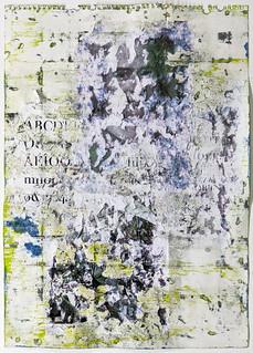 Zavier Ellis 'Liberté IV', 2021 Oil, acrylic, emulsion, collage on paper 59.4x42cm