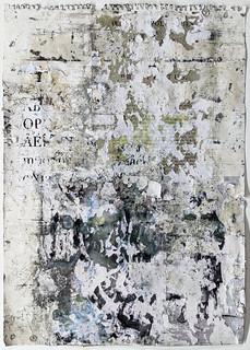 Zavier Ellis 'Liberté VIII', 2021 Emulsion, collage on paper 59.4x42cm