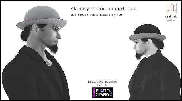 JfL Skinny brim round hat