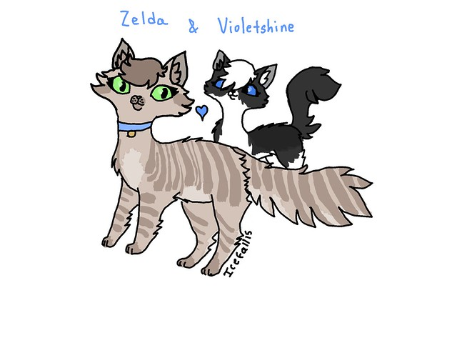 Zelda and Violetshine by Icefall15