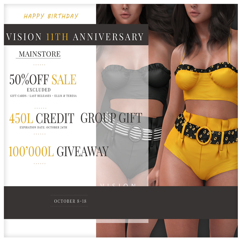 {ViSion} // // 11th ANNIVERSARY / SALE / 100K GIVEAWAY / GROUP GIFT 450L CREDITS