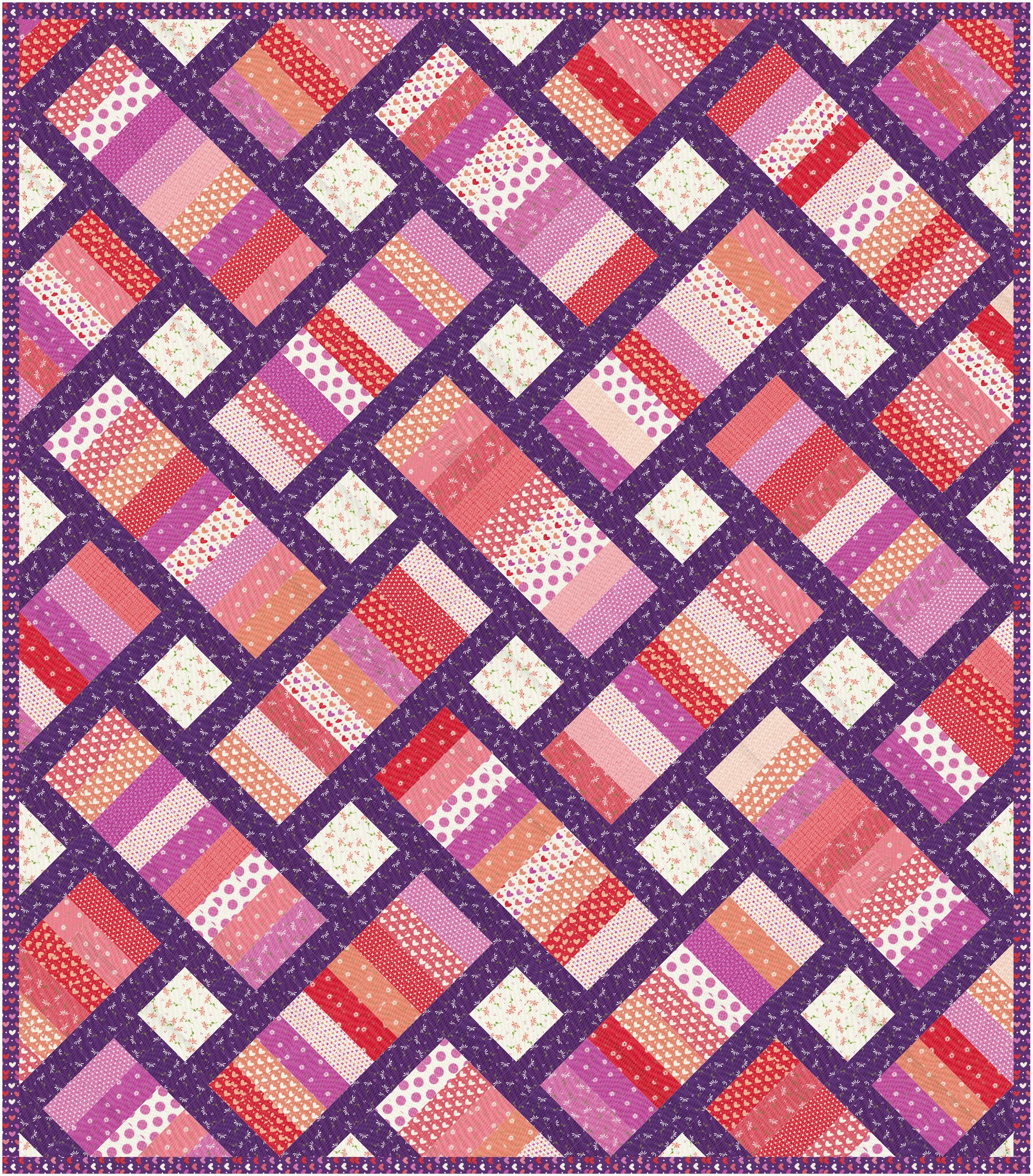 The Iris Quilt in Sincerely Yours - Kitchen Table Quilting