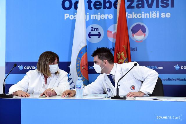 Konferencija za medije povodom predstavljanja novih epidemioloških mjera (08.10.2021.)