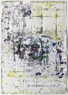 Zavier Ellis 'Liberté III', 2021 Oil, acrylic, emulsion, collage on paper 59.4x42cm