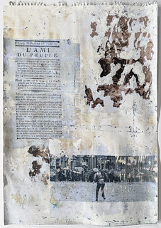 Zavier Ellis 'Liberté XVII', 2021 Emulsion, collage, transfer on paper 59.4x42cm