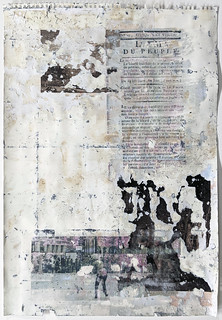 Zavier Ellis 'Liberté XV', 2021 Emulsion, collage, transfer on paper 59.4x42cm