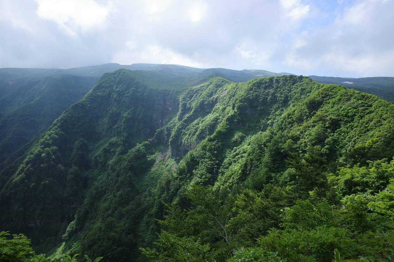 鳥海山鉾立展望台からの眺め