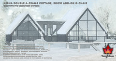 Trompe Loeil - Nisha Double A-Frame Cottage, Snow Add-On, & Chair for Collabor88 October