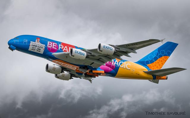 CDG   Emirates 'Dubai Expo' livery Airbus A380   A6-EEU