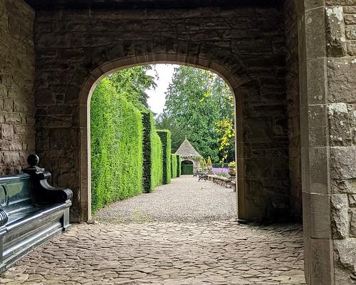 Italian Garden entrance, Glamis Castle, Angus, Scotland