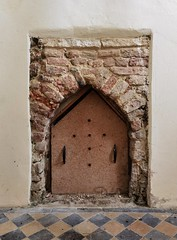 fireplace under the tower
