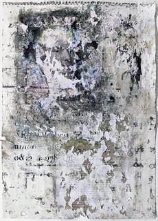 Zavier Ellis 'Liberté VII', 2021 Emulsion, collage on paper 59.4x42cm