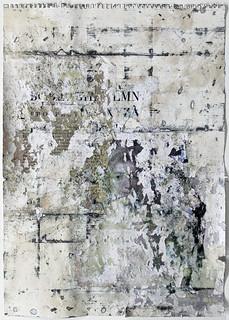 Zavier Ellis 'Liberté VI', 2021 Emulsion, collage on paper 59.4x42cm
