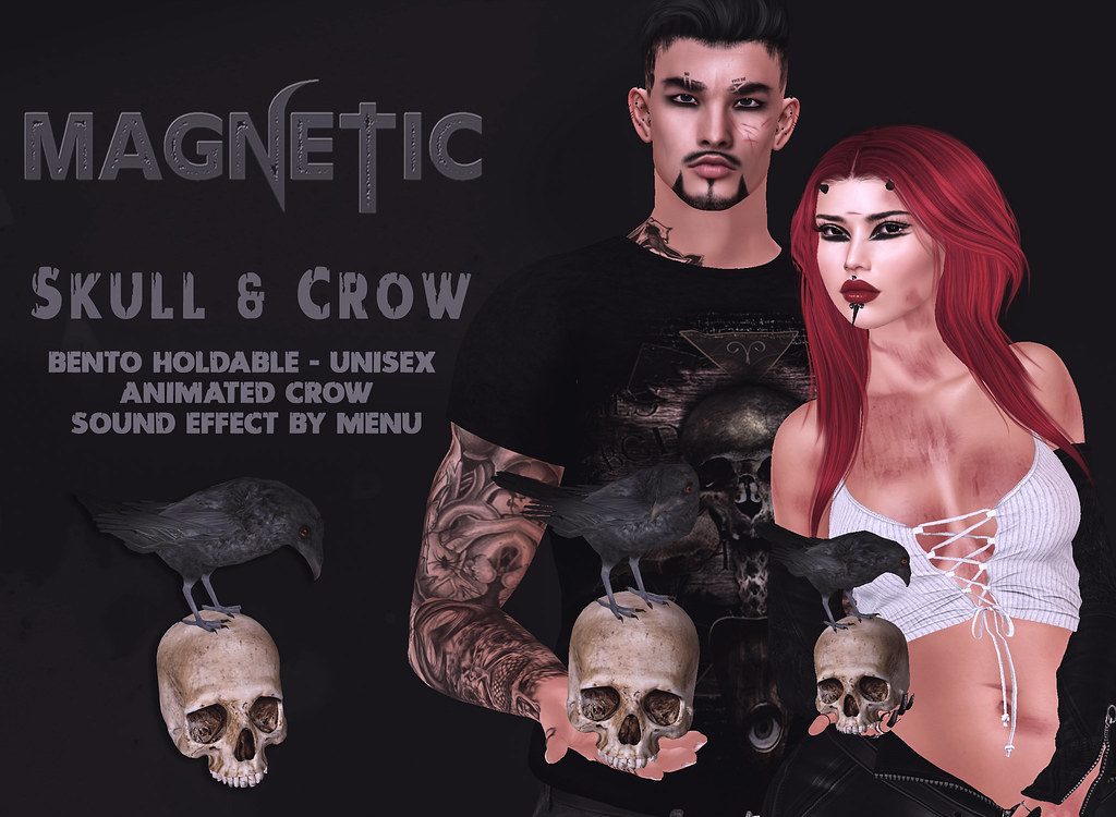 Magnetic – Skull & Crow