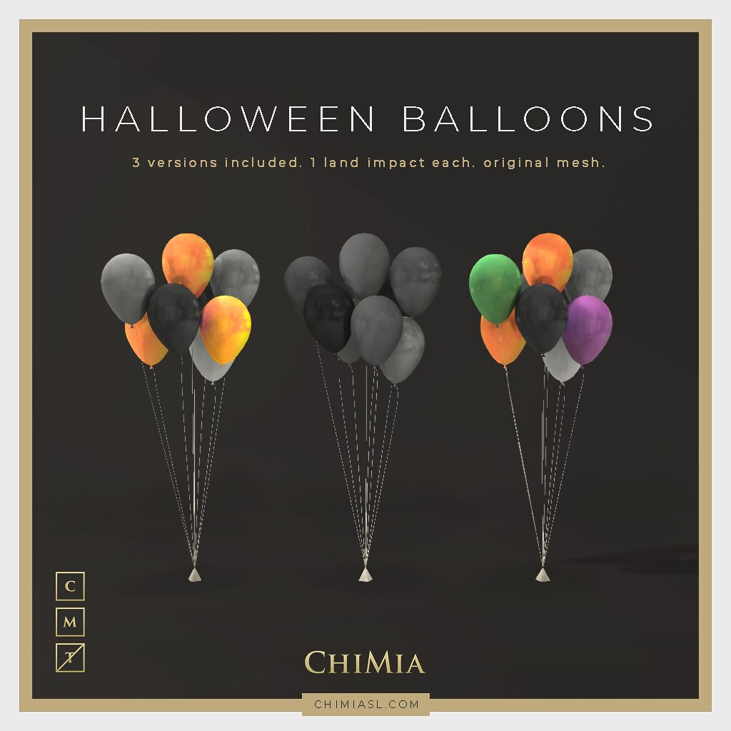 Halloween Balloons for Mournful Monday by ChiMia