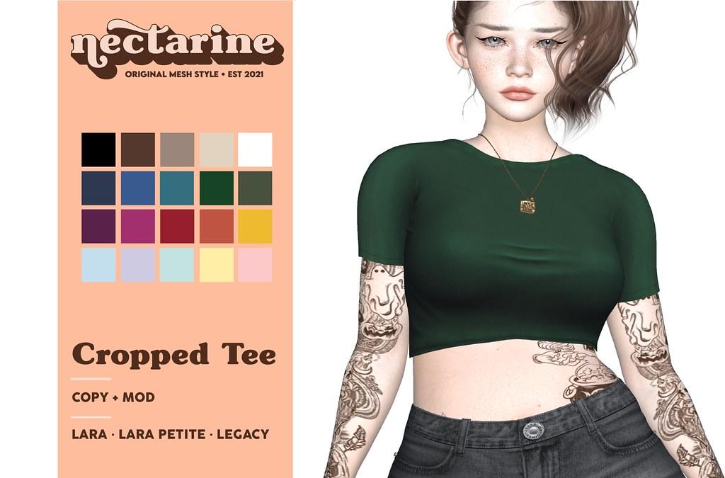 Nectarine - Cropped Tee