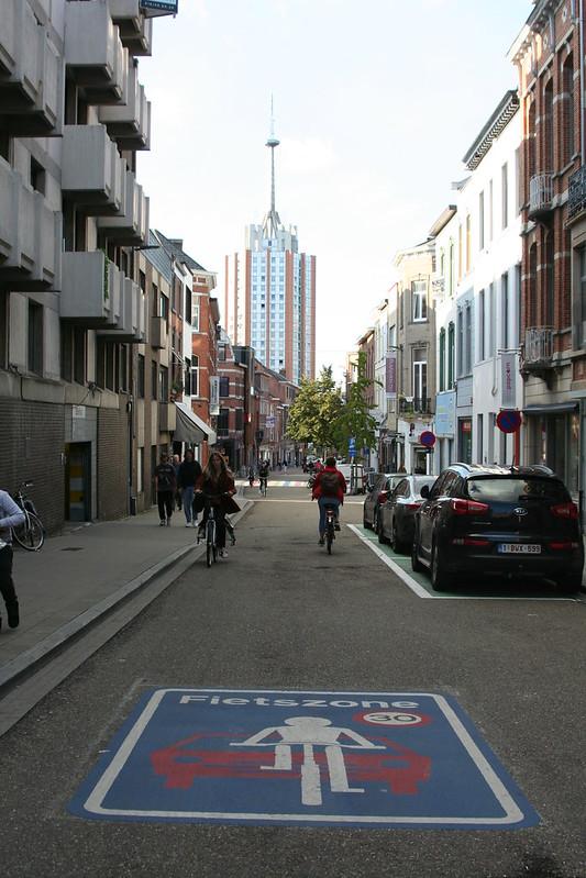 Calle con prioridad para bicis