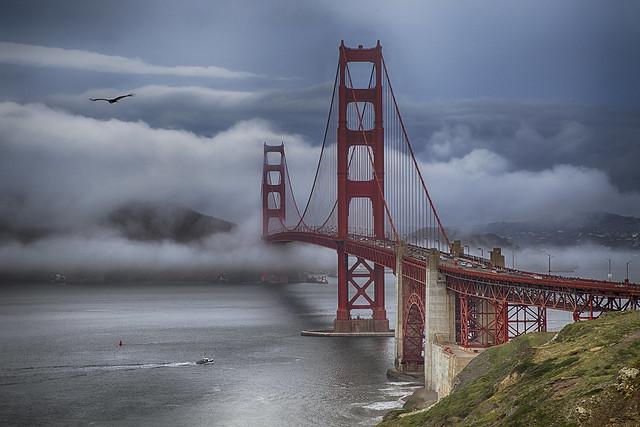 Rita Crane Photography: Golden Gate Bridge In Fog IV, California