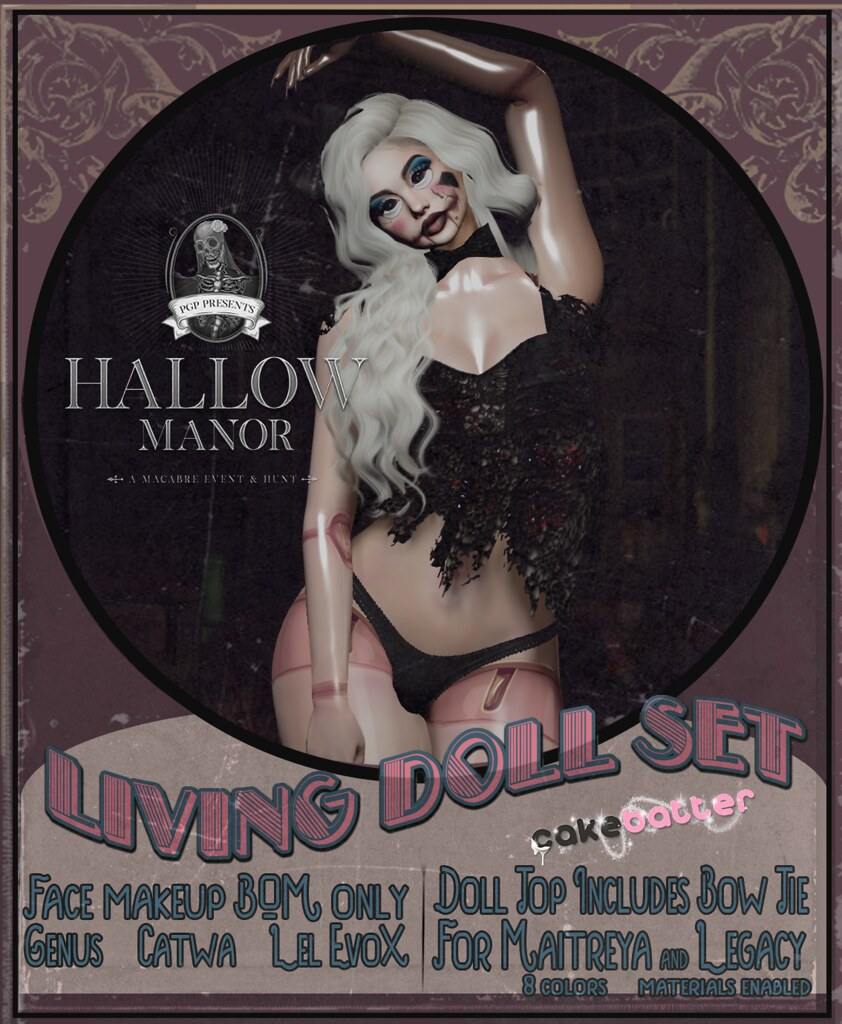 living doll set exclusive for Hallow Manor 2021<3