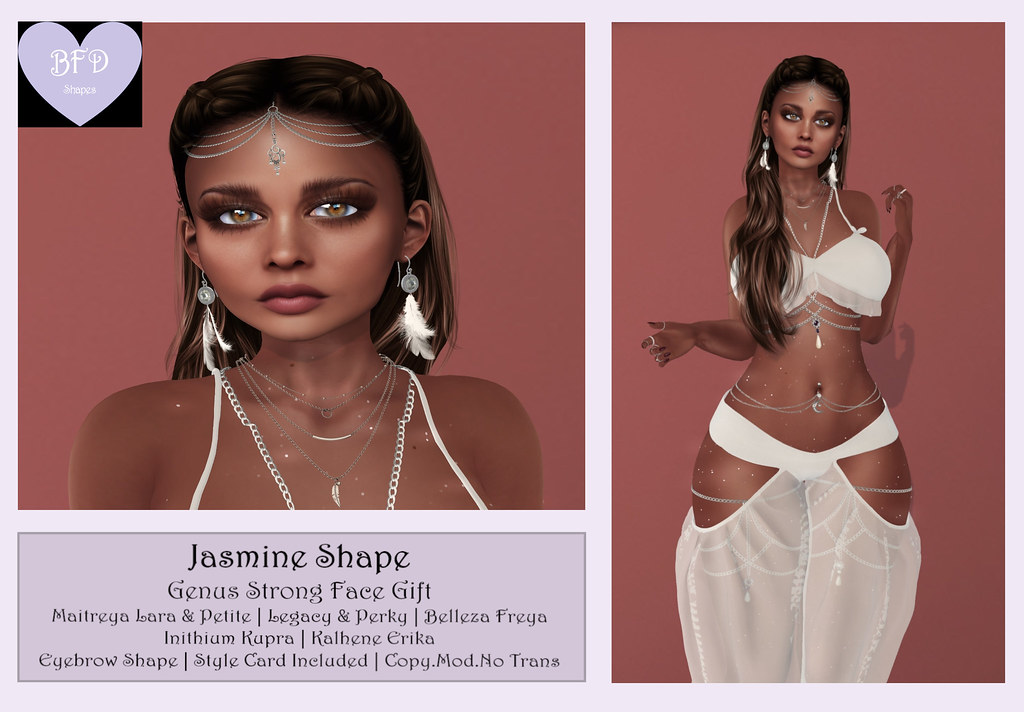 {BFD} Shapes – Jasmine Shape- Genus Strong Face ♥ New Release!! ♥