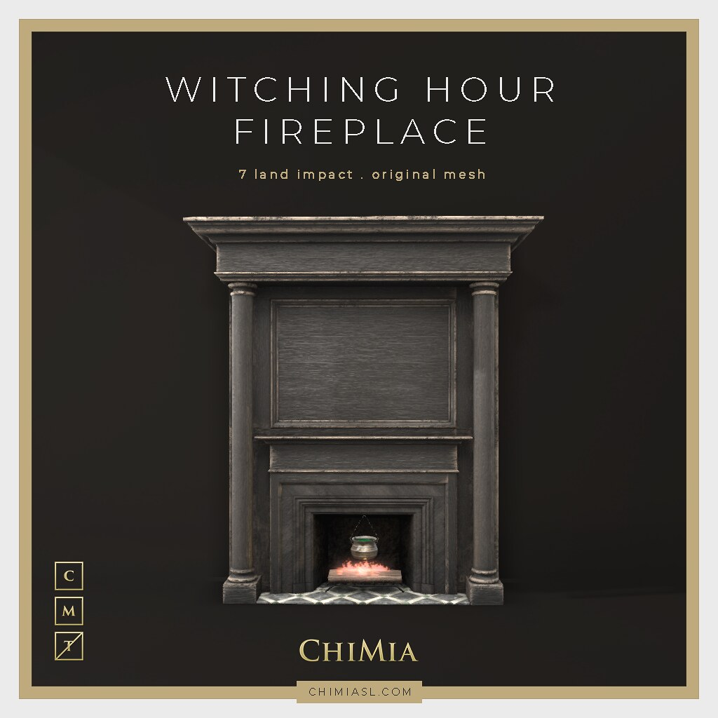 Witching Hour Fireplace for The Saturday Sale by ChiMia