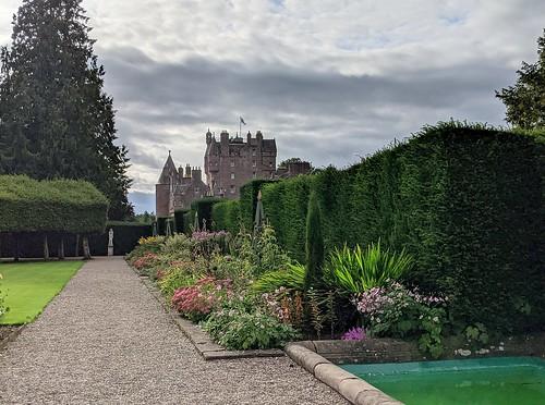 Glamis Castle from Italian Garden