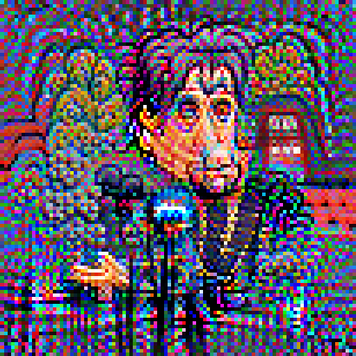 'a cartoon of Al Pacino' Pixel Direct Text-to-Image