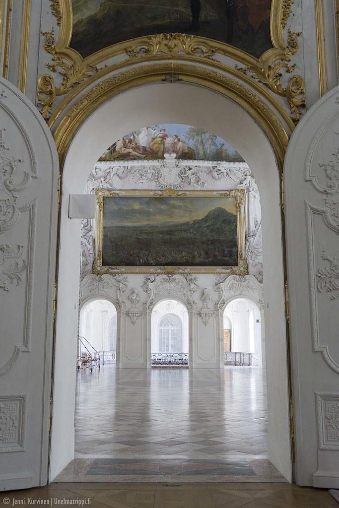 Koristeellinen sali Neues Schloss Schleissheimissa