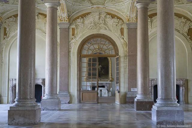 Käytävä ja sali Neues Schloss Schleissheimissa