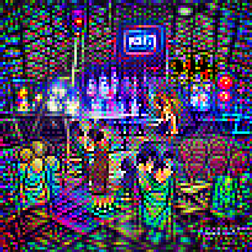 'a nightclub' Pixel Direct Text-to-Image