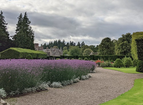 Italian Garden , Glamis Castle, Angus, Scotland