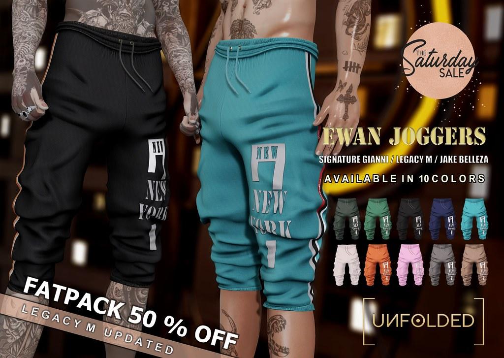 UNFOLDED x Ewan Joggers – The Saturday Sale ♥